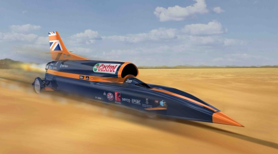 BLOODHOUND PROJECT'S SUPERSONIC CAR ATTEMPT IS BOOSTED BY ATLAS COPCO EQUIPMENT