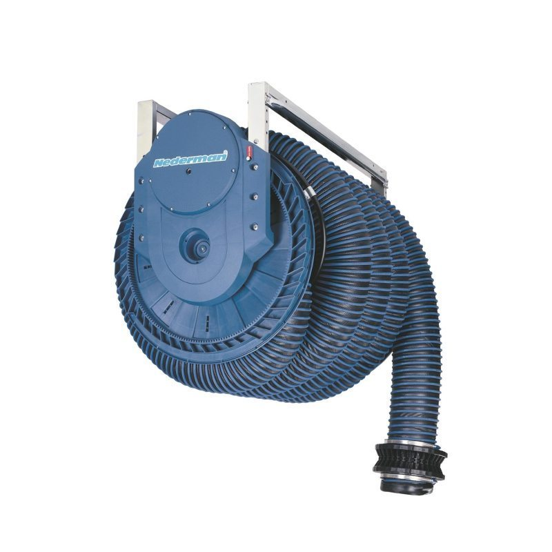 Exhaust Hose Reel 865 - Spring Recoiled