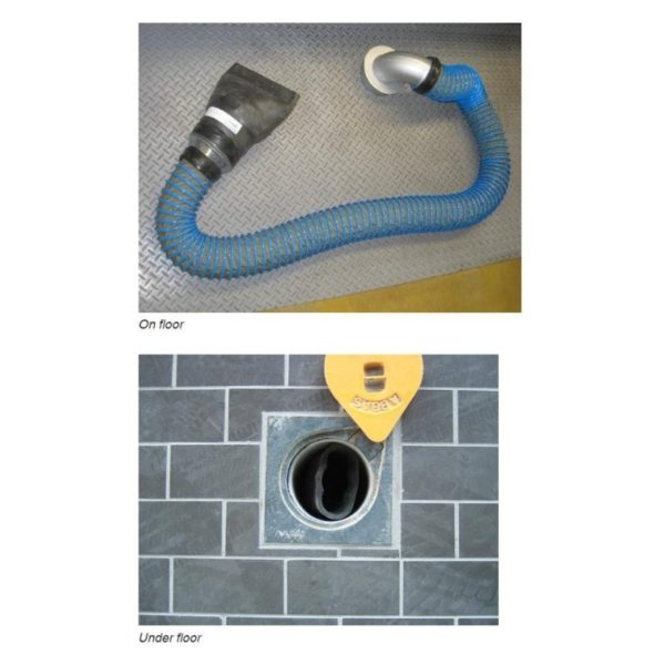 In Ground Exhaust Extraction System
